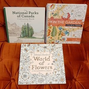 Set of 3 New Colouring Books